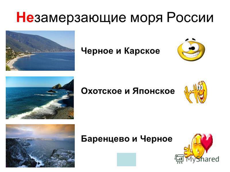 С какими странами Россия не имеет морских границ? Япония Армения США