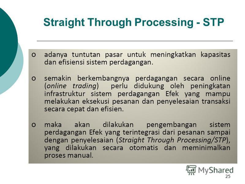 25 Straight Through Processing - STP