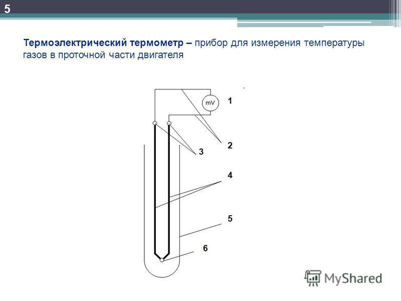 5 Термоэлектрический термометр – прибор для измерения температуры газов в проточной части двигателя