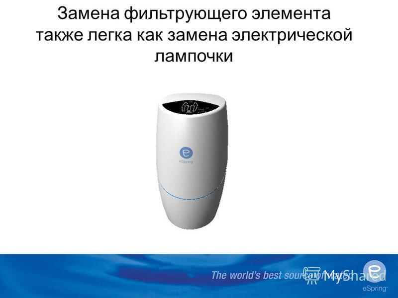 Замена фильтрующего элемента также легка как замена электрической лампочки Cad Cam??