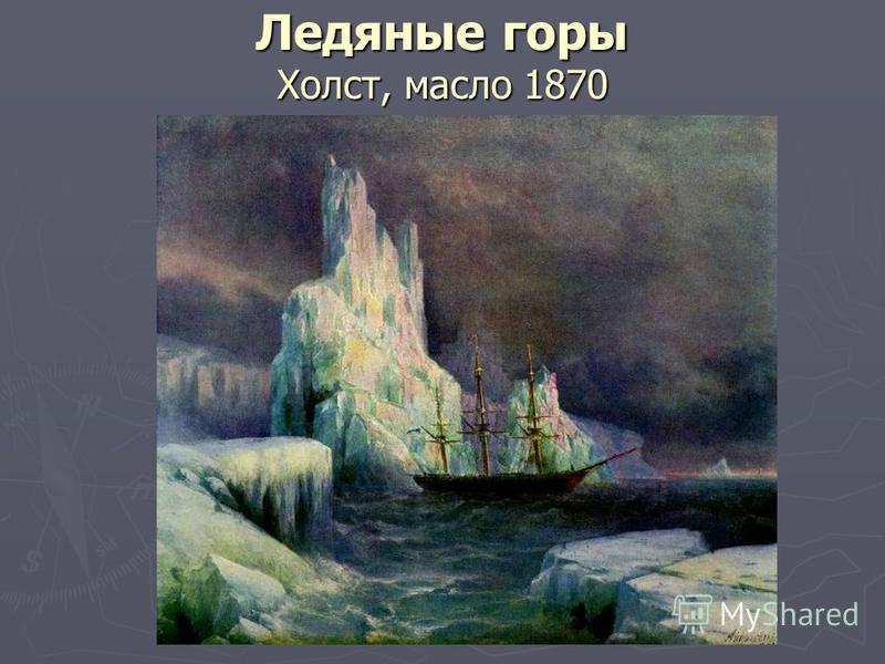 Ледяные горы Холст, масло 1870