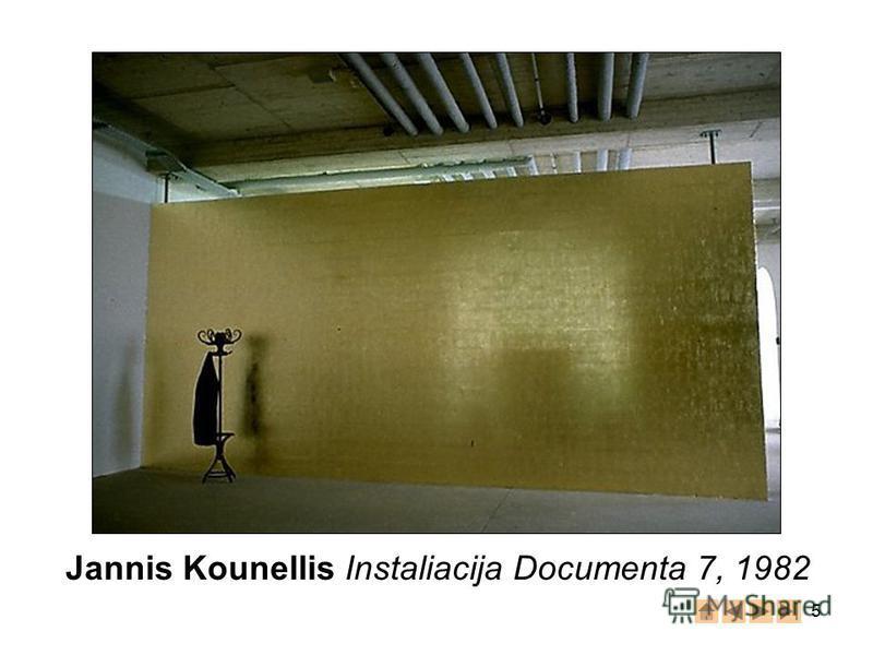 5 Jannis Kounellis Instaliacija Documenta 7, 1982