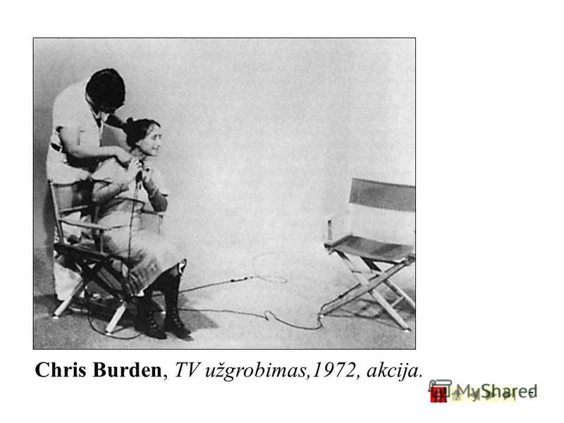7 Chris Burden, TV užgrobimas,1972, akcija.