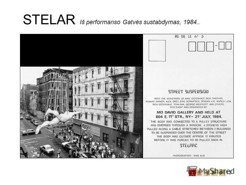 13 STELAR Iš performanso Gatvės sustabdymas, 1984..