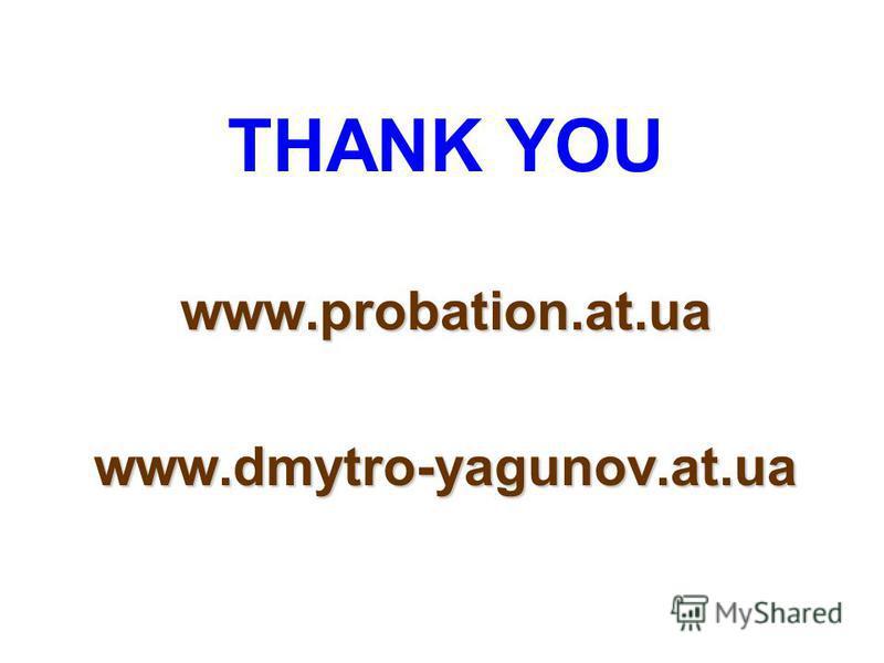 THANK YOU www.probation.at.uawww.dmytro-yagunov.at.ua