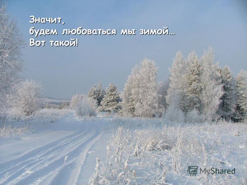 Значит, будем любоваться мы зимой… Вот такой!
