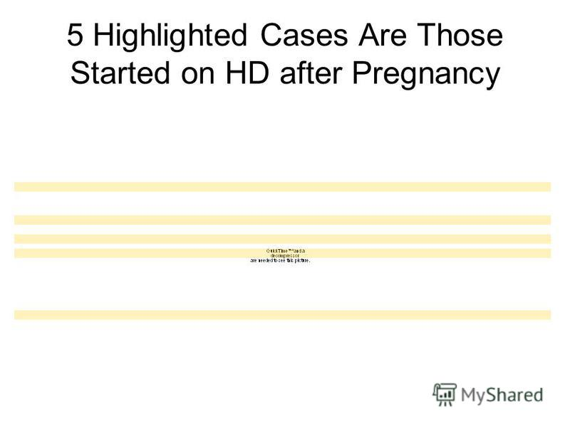 5 Highlighted Cases Are Those Started on HD after Pregnancy