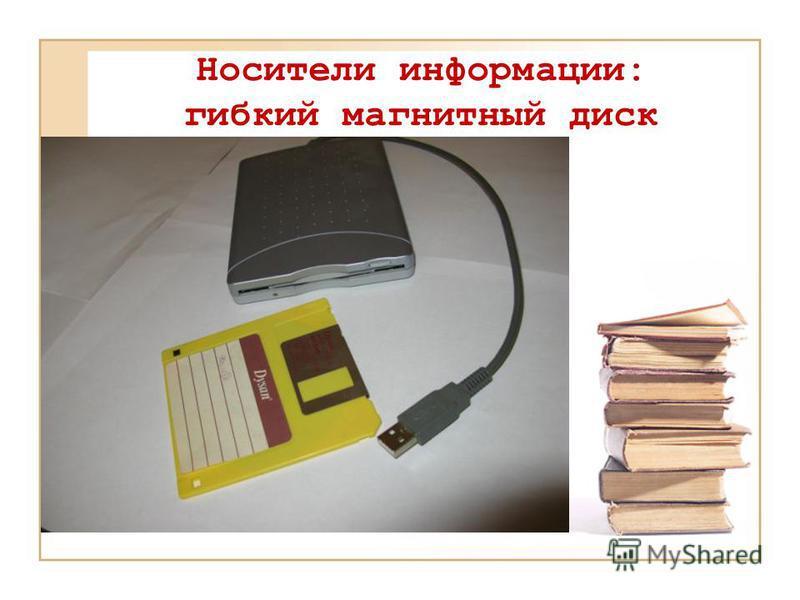 Носители информации: гибкий магнитный диск