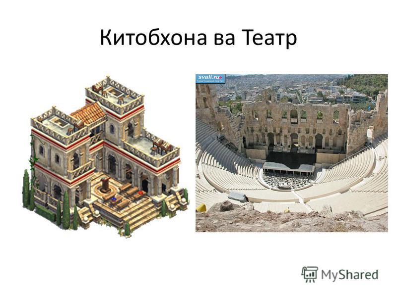 Китобхона ва Театр