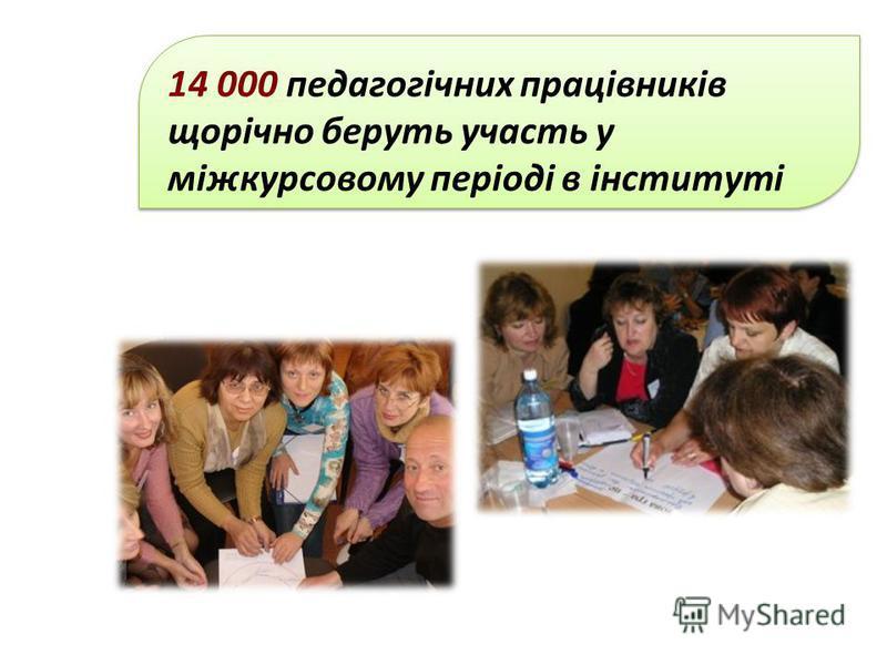 14 000 педагогічних працівників щорічно беруть участь у міжкурсовому періоді в інституті