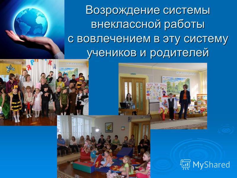 Возрождение системы внеклассной работы с вовлечением в эту систему учеников и родителей
