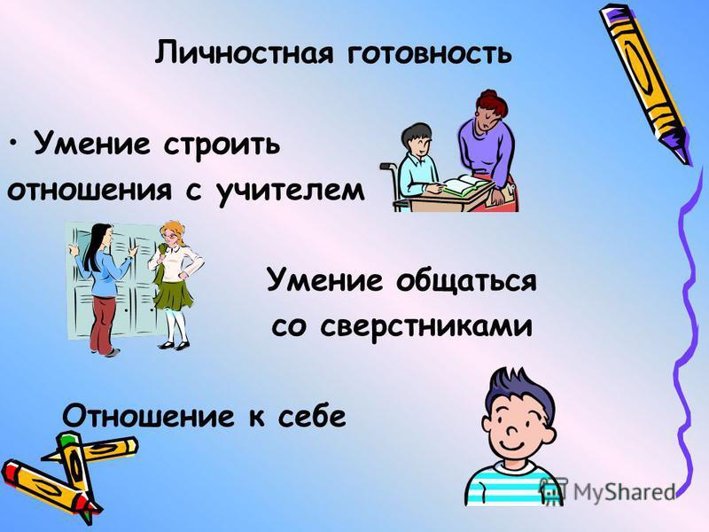 Психологическая готовность личностная - интеллектуальная - мотивационная