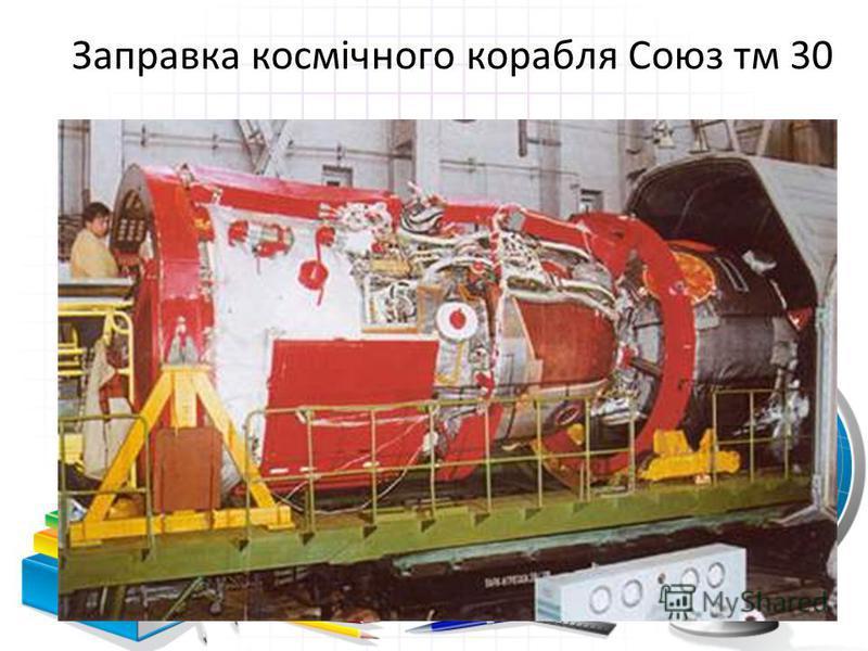 Заправка космічного корабля Союз тм 30