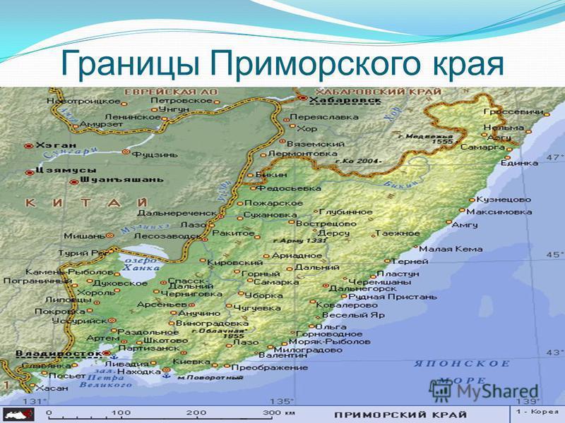Границы Приморского края