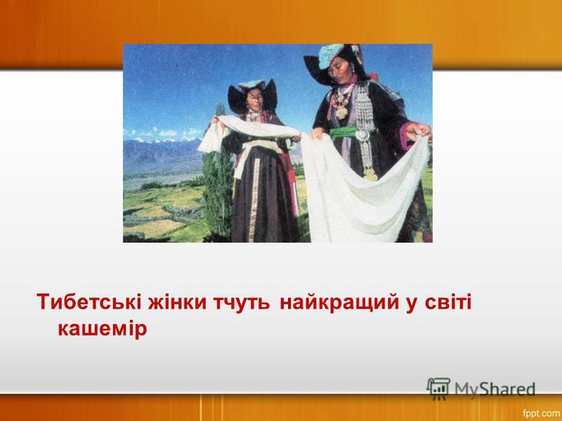 Тибетські жінки тчуть найкращий у світі кашемір