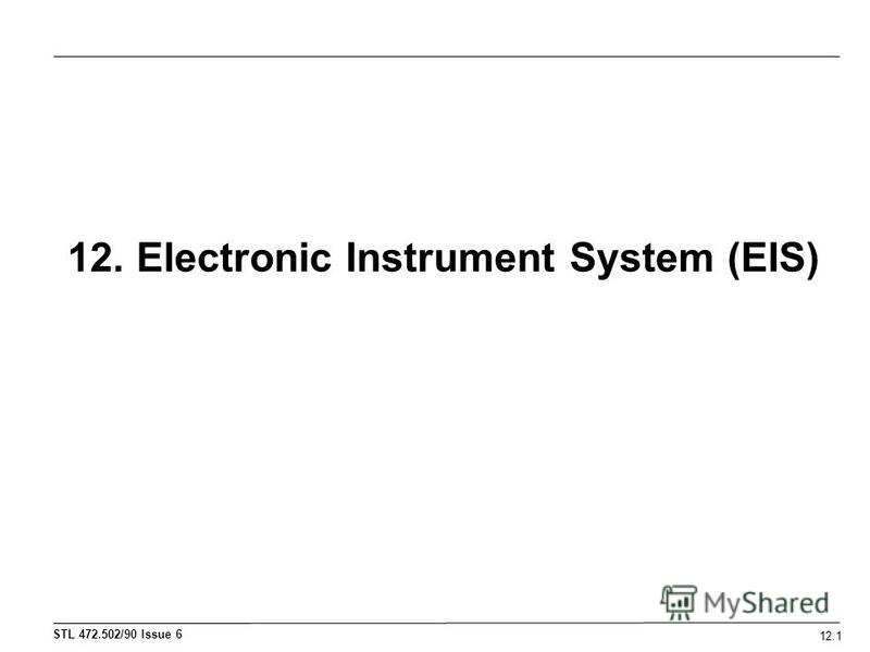 12. Electronic Instrument System (EIS) 12.1
