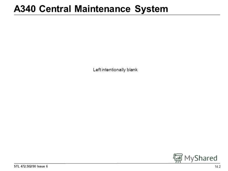 STL 472.502/90 Issue 6 A340 Central Maintenance System 14.2 Left intentionally blank