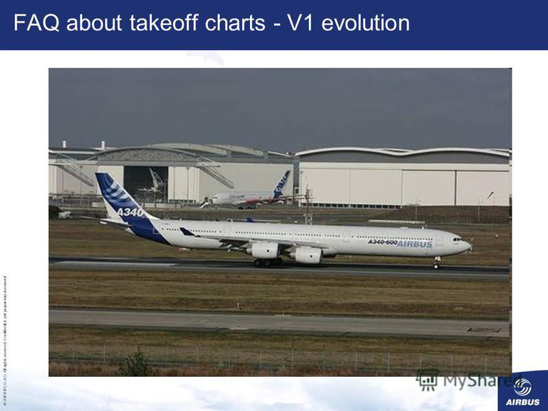 © AIRBUS S.A.S. All rights reserved. Confidential and proprietary document. FAQ about takeoff charts - V1 evolution