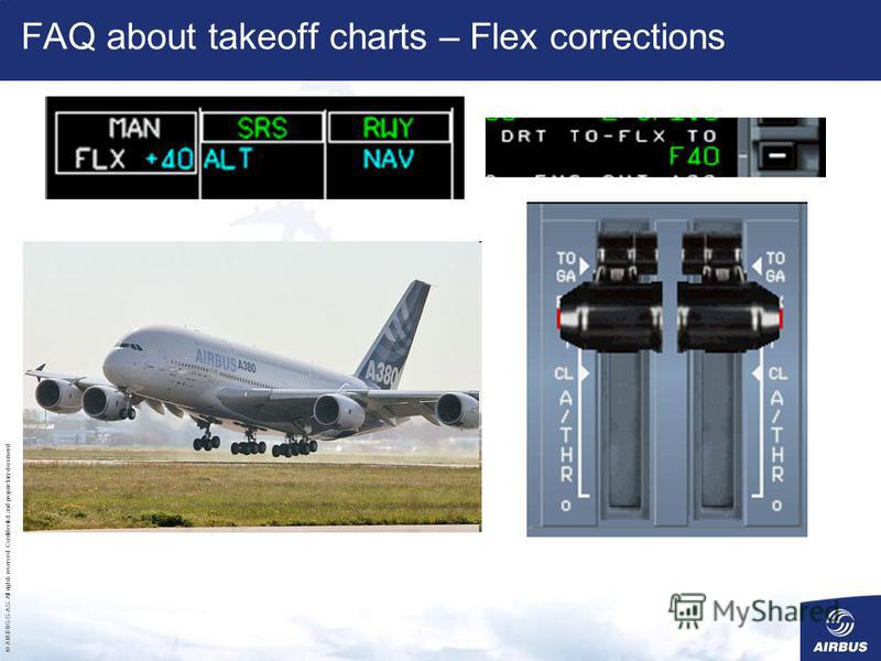 © AIRBUS S.A.S. All rights reserved. Confidential and proprietary document. FAQ about takeoff charts – Flex corrections