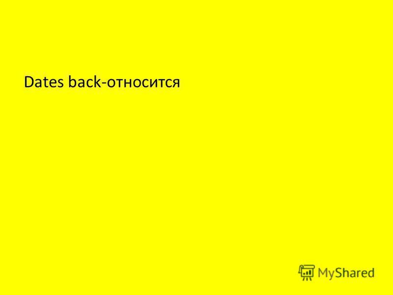 Dates back-относится