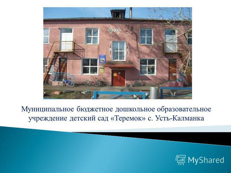 Муниципальное бюджетное дошкольное образовательное учреждение детский сад «Теремок» с. Усть-Калманка