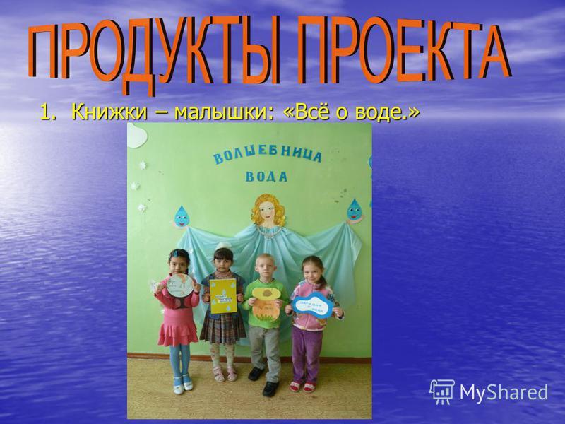 1. Книжки – малышки: «Всё о воде.»