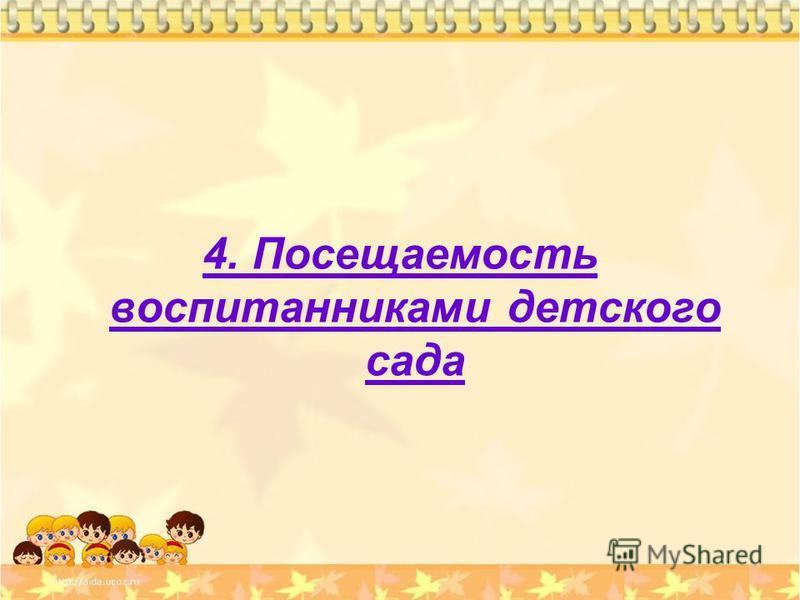 4. Посещаемость воспитанниками детского сада