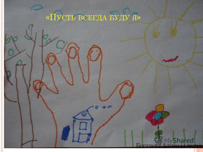 «П УСТЬ ВСЕГДА БУДЕТ МАМА » Костылева Аня (6 лет)