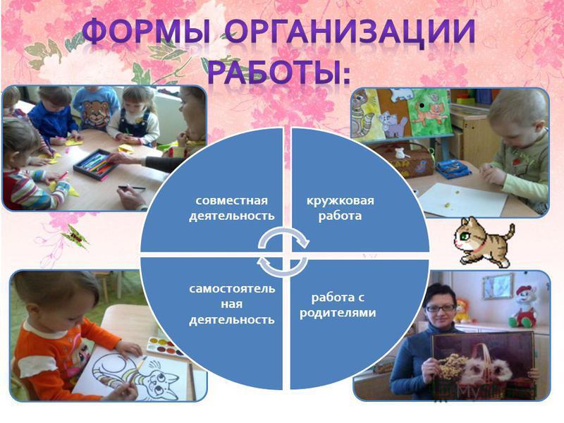 Работа с родителями Самостоятельная деятельность детей Кружковая работа Совместная деятельность ф ф совместная деятельность кружковая работа работа с родителями самостоятельная деятельность