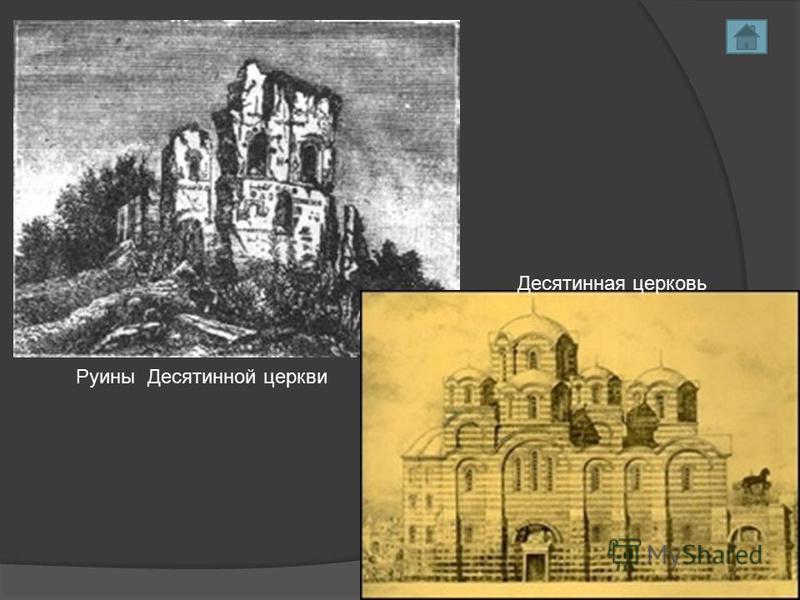 Руины Десятинной церкви Десятинная церковь