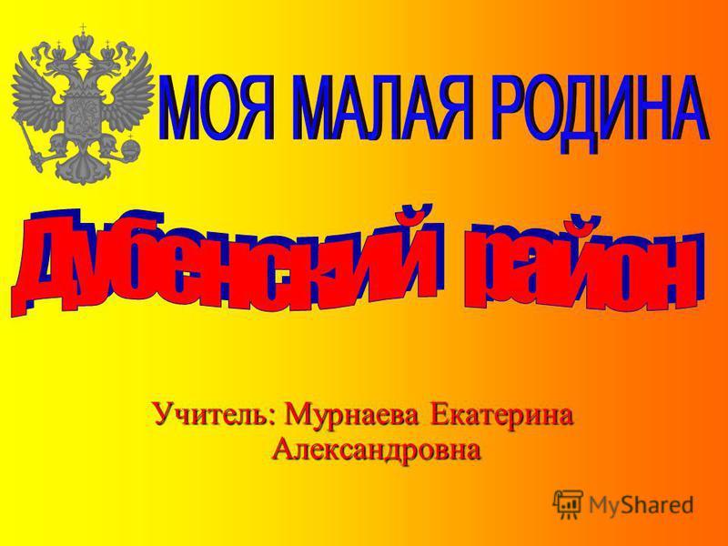 Учитель: Мурнаева Екатерина Александровна
