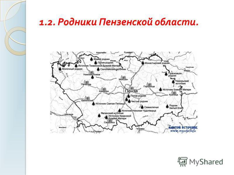 1.2. Родники Пензенской области.