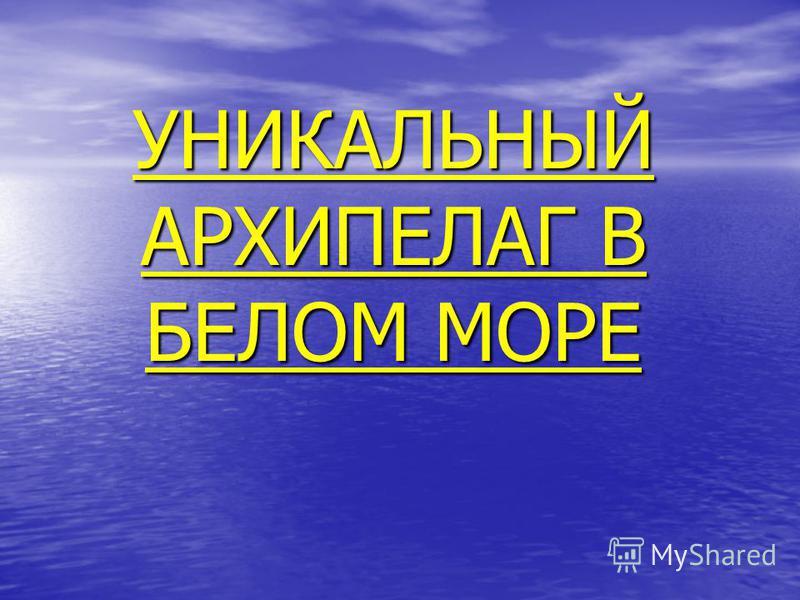 УНИКАЛЬНЫЙ АРХИПЕЛАГ В БЕЛОМ МОРЕ