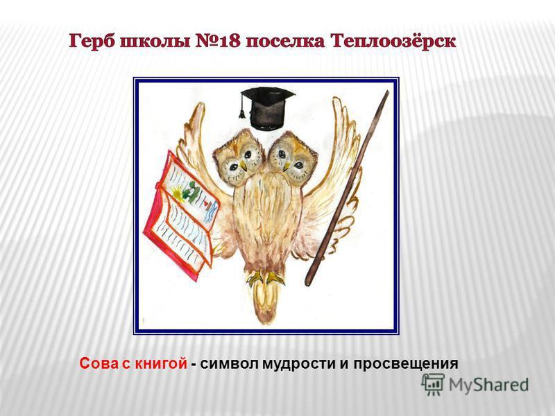 Сова с книгой - символ мудрости и просвещения