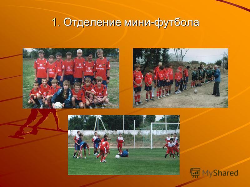 1. Отделение мини-футбола