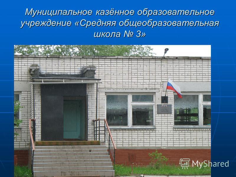 Муниципальное казённое образовательное учреждение «Средняя общеобразовательная школа 3»