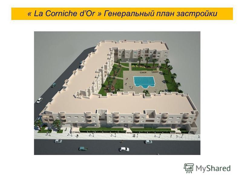 « La Corniche dOr » Генеральный план застройки