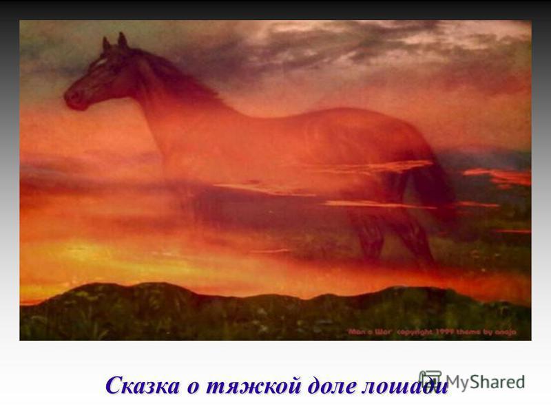 Сказка о тяжкой доле лошади