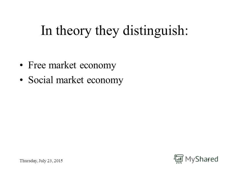 Thursday, July 23, 20156 Outline of the presentation ( Topic 1 Nature & method ) Subject-matter (nature) of social economics Principles of social economics The main branches of the social sector and its relations with the production sector Economic g