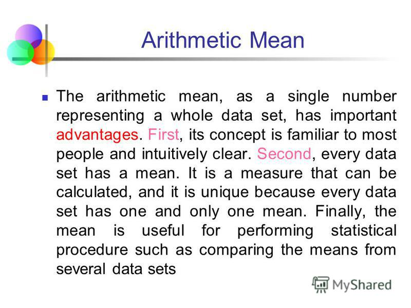 Statistics for Business and Economics, 6e © 2007 Pearson Education, Inc. Chap 3-76 Arithmetic Mean The most common measure of central tendency Mean = sum of values divided by the number of values Affected by extreme values (outliers) (continued) 0 1