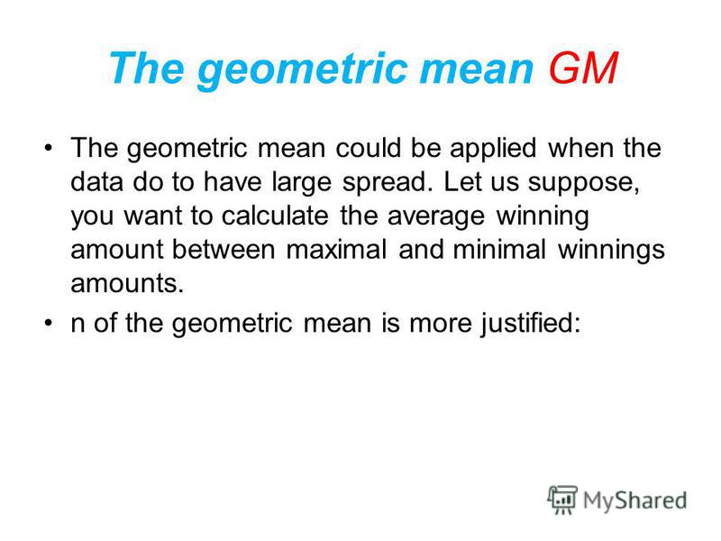 Example 12 Further the geometric mean can be applied: The average growth rate is 25.47% per year