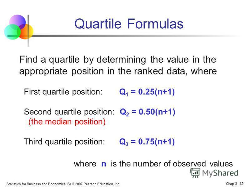 Это варианты, которые делят ранжированную совокупность на четыре равные части: Q 1 1:3; Q 2 2:2 (Q 2 =Ме); Q 3 3:1