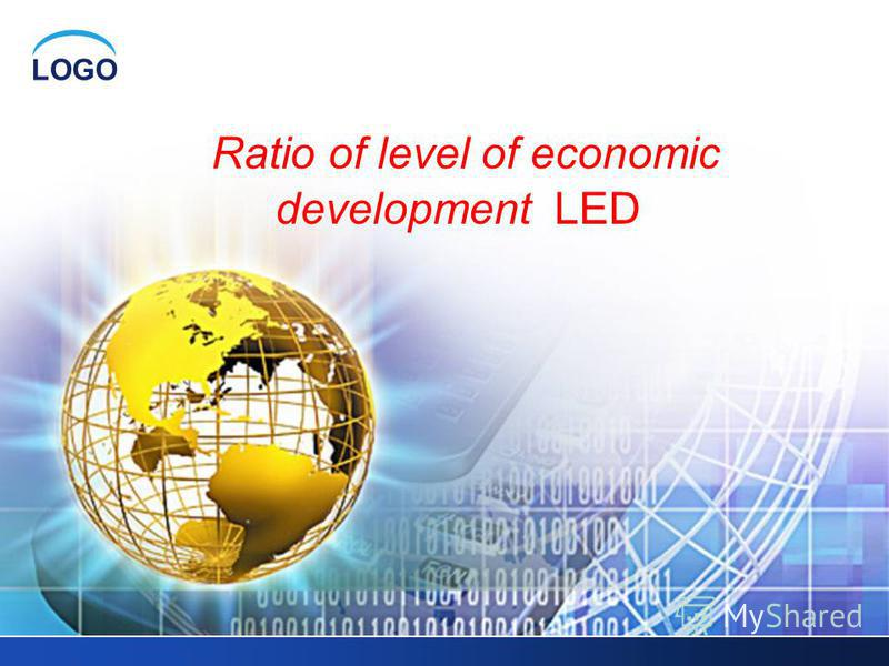 LOGO Ratio of level of economic development LED