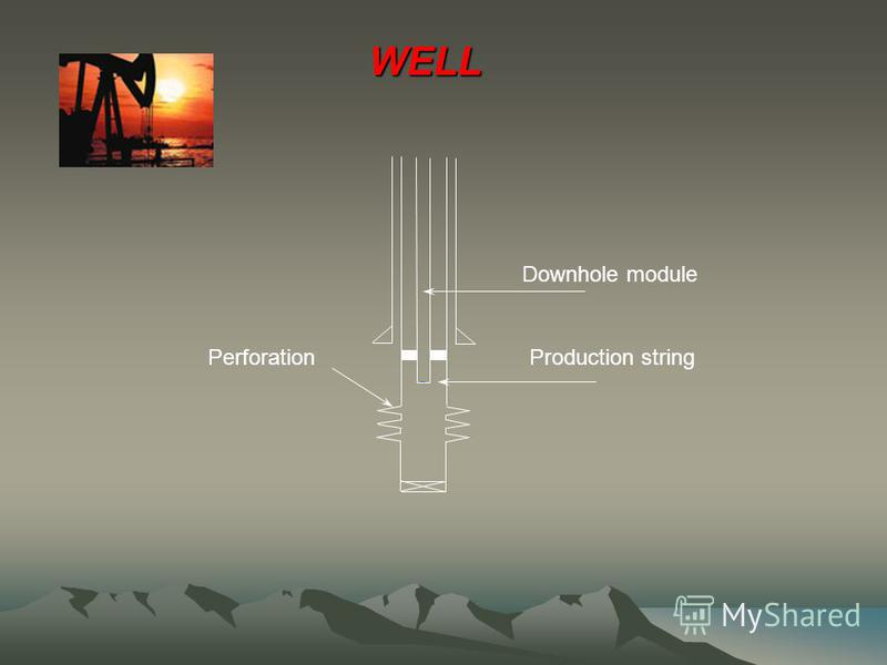 Perforation Downhole module WELL Production string