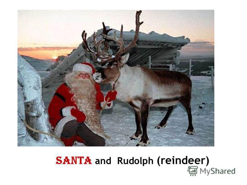 Santa and Rudolph (reindeer)