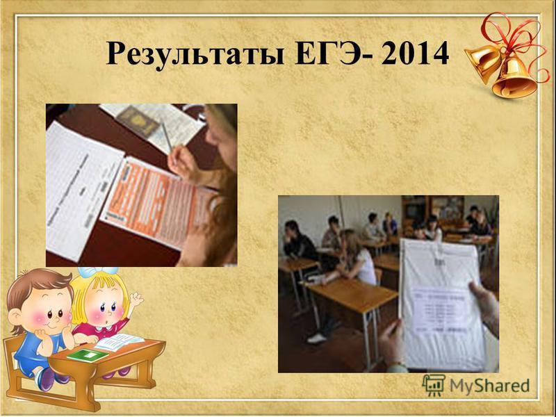 Результаты ЕГЭ- 2014