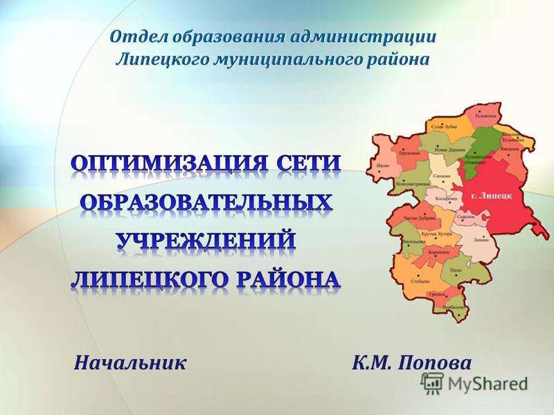 Начальник К.М. Попова
