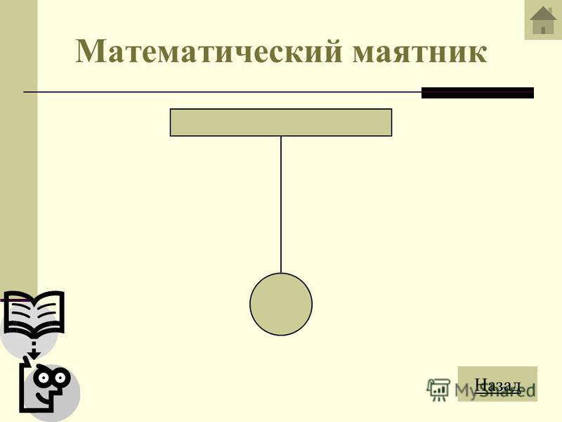 Математический маятник Математическим маятником называют идеализированную систему, состоящую из невесомой и нерастяжимой нити, на которой подвешена масса, сосредоточенная в одной точке. N 0 mg φ – угол отклонения маятника от положения равновесия N –