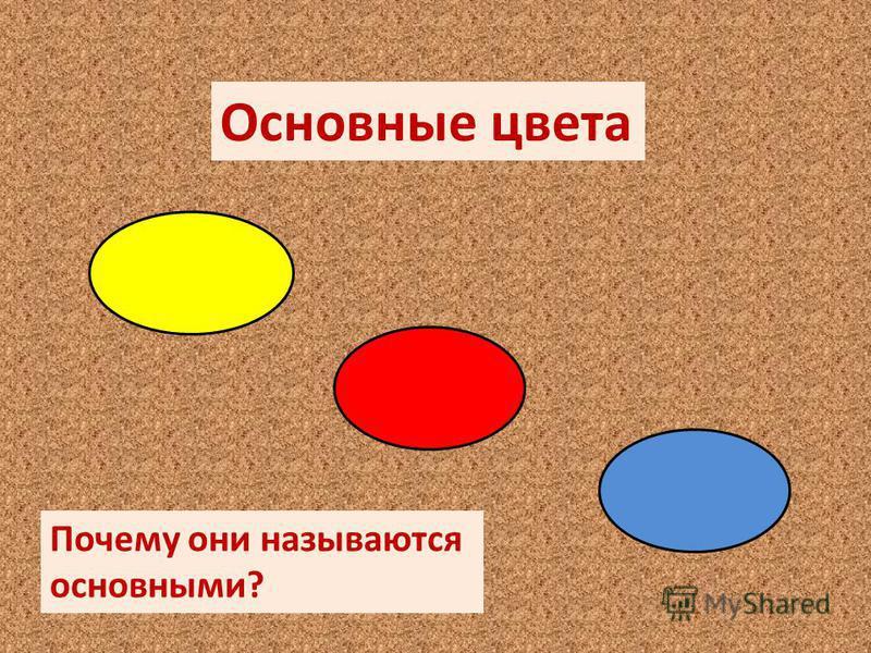 Основные цвета Почему они называются основными?