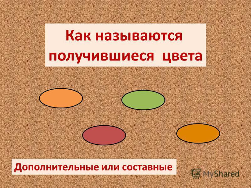 Как называются получившиеся цвета Дополнительные или составные